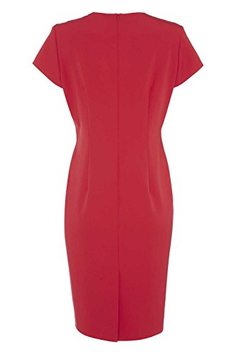 Roman Originals - Robe Moulante Col V - Rouge Rouge