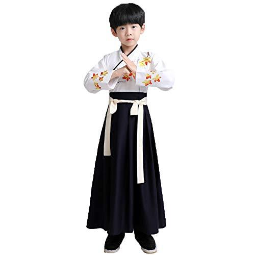 Chenyang86 Hanfu-chinesischer Stil Kostüme mit DREI Zeichen (Farbe : Weiß, größe : 110cm)