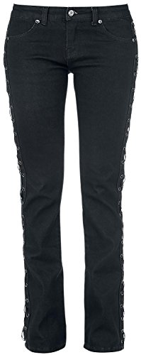 Rock Rebel by EMP Laced Grace (Boot-Cut) Jeans donna nero W29L34
