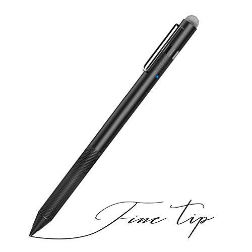 MEKO Stylus Pen für Apple iPad mit feiner Spitze, perfekt zum Zeichnen und Schreiben, kompatibel mit W/iOS und Android Touchscreen-Handys, Tablets, Schwarz