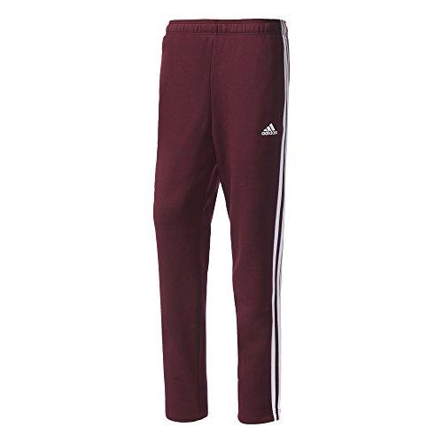 Adidas Ess 3S T Pnt FL Pantaloni, Uomo Granata (granata/bianco)