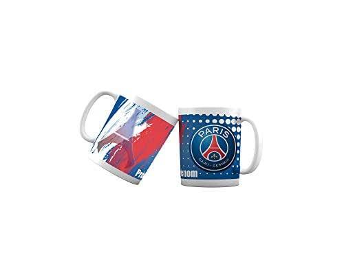 Mug tasse personnalisé Foot Paris et prénom - Cadeau personnalisé pour les amateurs de foot - Tasse personnalisable et originale