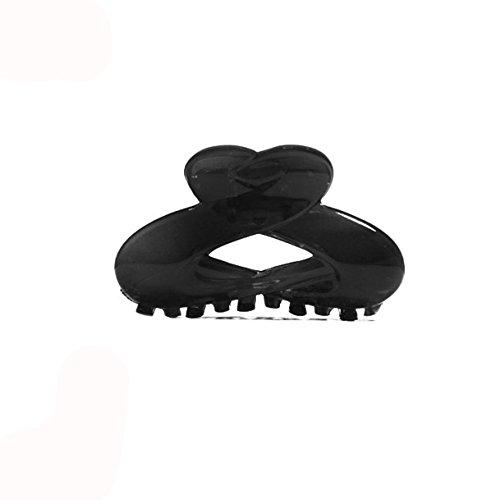 Pince Crabe à Cheveux en Plastique Noir - 9 cm - Accessoire Coiffure