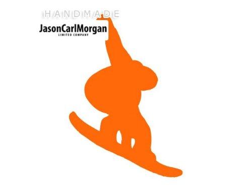 JasonCarlMorgan Allzweck-Tasche, 75 mm, Snowboard Car Window Laptop Wandtattoo Sticker Vinyl Aufkleber, Örn (Snowboard-laptop-tasche)