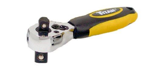Titan Tools 110501/4und 3/8-Antrieb Dual Head Stubby Ratsche–Mehrfarbig - Dual-head-stubby Ratchet