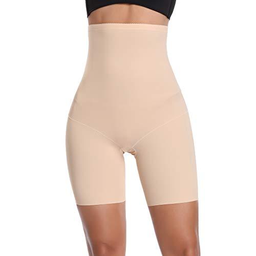 Boyshorts Sexy Dessous (Joyshaper Miederhose Damen Bauch Weg Stark Formend Miederpants mit Bein Hohe Taille Taillenformer Shaper Shapewear angenehme Figurformende Unterwäsche Nahtlose (Beige-Light Control #1, XXX-Large))
