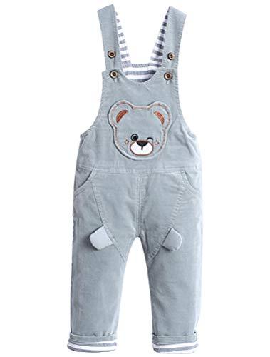ARAUS Baby Cord Latzhose Unisex Hosenträger Overall Säugling Bär-Muster Süß Hose Einfarbig Hautfreudlich Lässig Kids Pants -