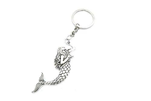 Meerjungfrau Schlüsselanhänger Silber-Farben maritim Modeschmuck nixe
