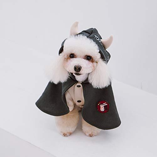 Hunde Bilder Kostüm Von Niedlichen - CDSFC-Haustier Kostüm, Weihnachten Halloween Festival Party Katze Hund Niedlichen Kostüm Kleidung Hoodie Mantel Mantel,Grau,XS