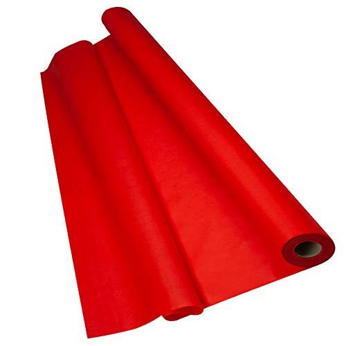 Sensalux Light Tischdeckenrolle, Oeko-TEX ® 100 - Made in Germany - 25m lang (Farbe nach Wahl), rot, 1,10m x 25m, stoffähnliches Vlies, ideal für Jede Party, Vereinsfeier, Geburtstagsfeier