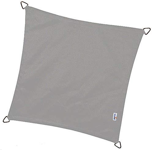 nesling - Voile d'ombrage imperméable carrée Dreamsail Gris 5 x 5 m