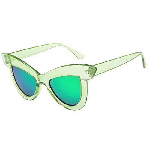 EUCoo Frauen Sonnenbrillen PersöNlichkeit Lustige GroßE Augenbrauen Katzenaugen Sonnenbrille Helle FarbenstraßEnsch LaggläSer(A)