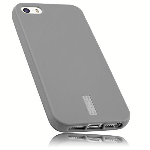 mumbi Schutzhülle für iPhone 5 5S SE Hülle hell grau Apple Iphone 5 Shell