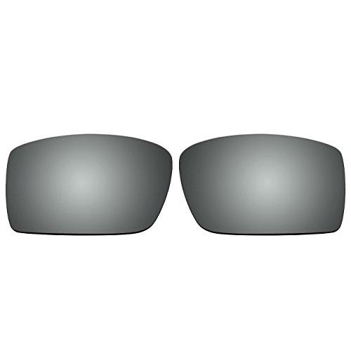 acompatible Ersatz Lenses für Oakley Sonnenbrille Gascan (nicht fit Gascan S), Titanium Mirror - Polarized