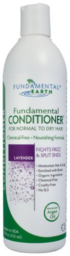 Fundamental Lavender Conditioner - Normal to Dry Hair Fights Frizz & Split Ends (with Argan Oil) 12 Oz. - Natural Conditioner - Made in USA by Fundamental Earth