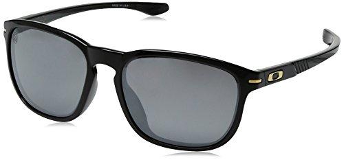 Oakley Men's Enduro OO9274-03 Oval Sunglasses, Polished Black, 55 mm