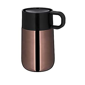 WMF Impulse Travel Mug 0.3 L Height 14 cm 7.8 cm Automatic Closure 360° Drink Opening Keeps Drinks Hot 6 Hours/Cold 12 Hours Copper