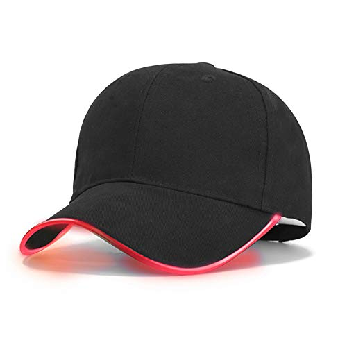 Sanjiayi LED-Licht Flash Baseball Cap Hut im Dunkeln leuchten Baseball Cap für Frauen Herren ausgestattet Hüte Hysteresenkappe Party Hut,Style O