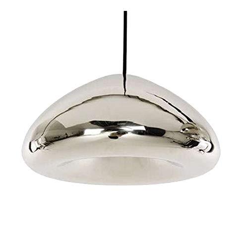 Kleine Schüssel-licht-anhänger (LL-Enjoyy Kreativer Retro-Glasschalen-Kronleuchter mit Einer Aufhängelinie von 1 Meter, verstellbar, passend für die Dining Room Lounge Bar,Silver,S)