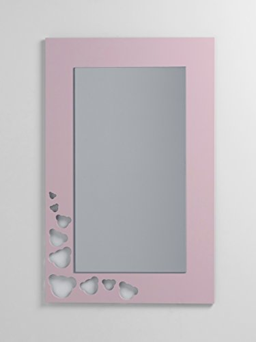 DECOHOGAR.SHOP Rechteckiger Kinder-Wandspiegel - Kleine Teddybären - 47 x 70 cm - Blauer Himmel Lack