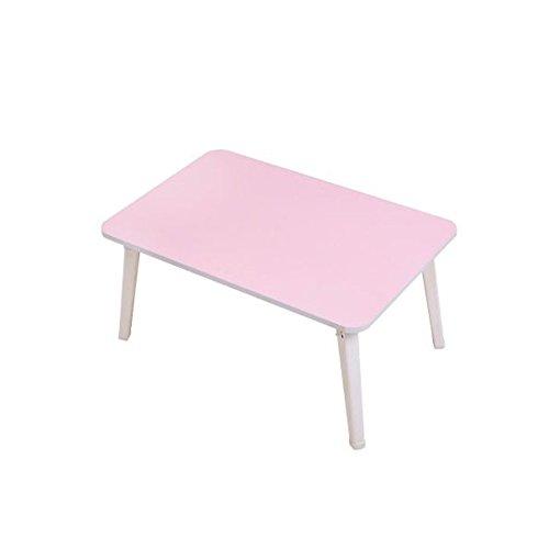 Flower Racks LUYIASI- Computerschreibtisch-Bett mit dem Falten einfachen Haupttabelle Schlafsaal-hölzernes Notizbuch-Lernen-Schreibtisch (60x40x29cm) (Farbe : Pink)