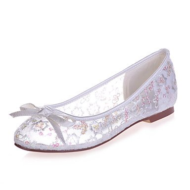 RTRY Donna Shoesflat Tallone Punta Tonda Appartamenti Matrimoni/Parte &Amp; Sera Nero/Blu/Rosa/Rosso/Avorio/Bianco/Oro US10.5 / EU42 / UK8.5 / CN43