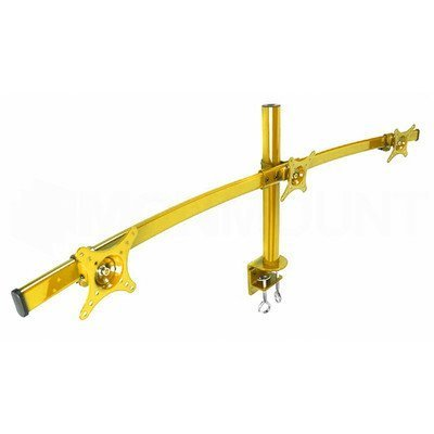 MonMount Curved Triple LCD Monitor Arm Mount, Yellow (LCD-2230Y) by MonMount -