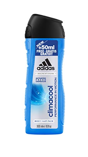 adidas Climacool men Shower Gel 250+50 ml XXL Übergröße, 6er Pack (6 x 0.3 l)
