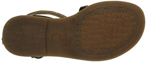 Geox Karly D, Sandales Bout Ouvert Fille Noir (Blackc9999)