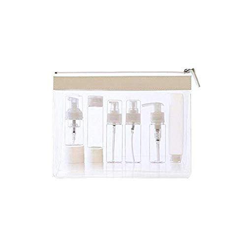 YWAWJ Reiseflaschen Auslaufsicheres Shampoo- und Conditioner-Flaschenset Pflegezubehör mit Sprühflasche und Cremetöpfen