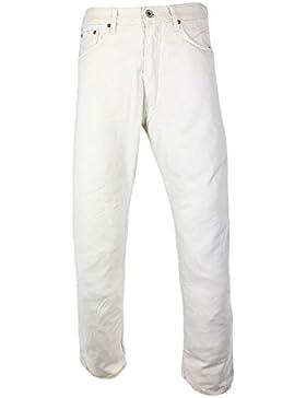 Evisu ESO5EU JE31 Top-Notch White Jeans 100% Made in Italy 36
