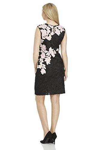 Roman Originals Damen Kontrast Tapework Kleid Rosa Rosa