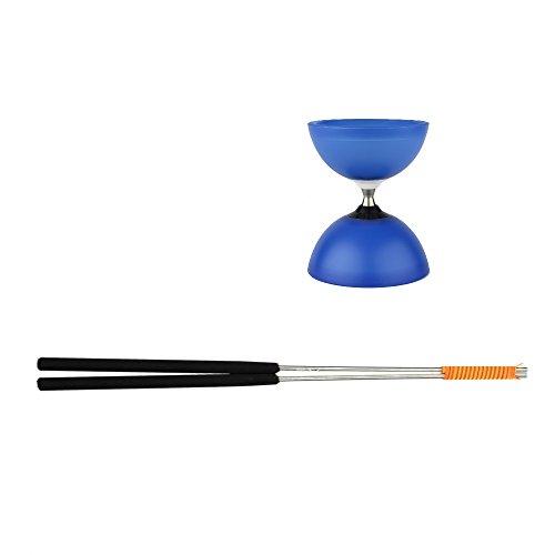 Henrys Diabolo Vision Free - Diábolo y Palos de Aluminio, Color Azul