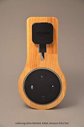 Halterung Echo Dot Gen 1 aus EICHE   Echo Dot 1. Generation   Halter   Wandhalterung   Ständer   Alexa   Holz   Smart Home -