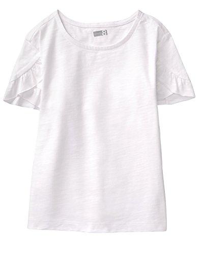 Crazy 8 Girl's Short Ruffle Tulip Sleeve Basic Tee T-Shirt