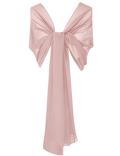 HUINI Damenmode Kleider Chiffon Lange Schal Stola Scarves Abendkleider Ballkleider -