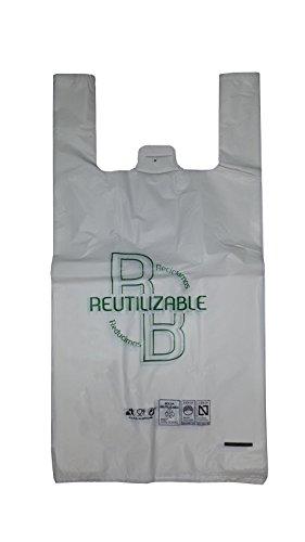 YMBERSA Bolsa Camiseta Reutilizable/desechable Grande