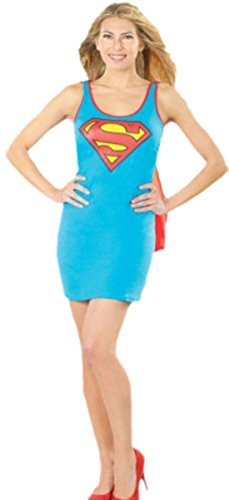 Superwoman Schuhe Kostüm (erdbeerloft - Damen Superwoman Abendkleid, S,)