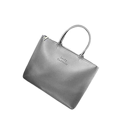 Umhängetaschen,Switchali Damen Frauen PU-lederner Handtaschen-einzelner Schulter-Kurier-Telefon-Beutel (Size: 36X27X2cm,