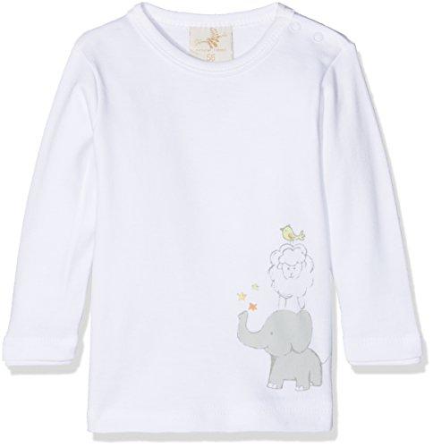 DIMO-TEX DIMO-TEX Baby Top Langarmshirt Basic Unisex Mehrfarbig (Weiß, FP 1) 62