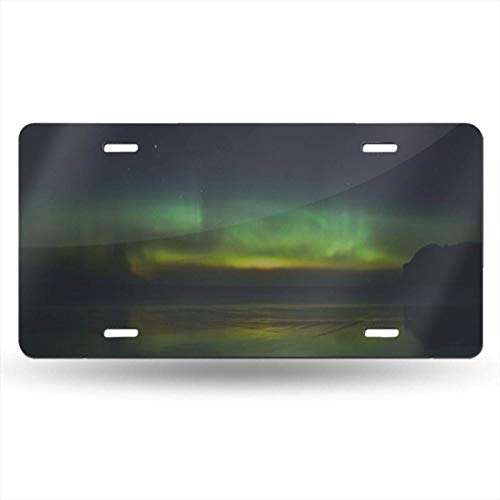 License Plate Frame Aurora Green Sea Space Customized Aluminum Metal Tag Holder Waterproof 12 x 6 Inch Decoration - Aurora Frames