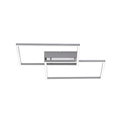 LED Deckenleuchte, 50x42, IP 20, dimmbar mit Fernbedienung, Decken-Lampe, Farbtemperatursteuerung, warmweiss - kaltweiss, Stahl-Design