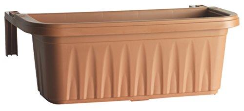 Bama 30270 Fioriera Rondine Set 2pz, Terracotta, 50x20x18.5 cm