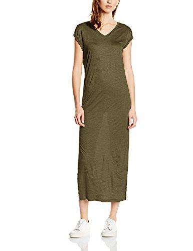b.young Damen Kleid Tulippa dress, Maxi, Einfarbig, Gr. 40 (Herstellergröße: L), Grün (Dusty Olive - T-shirt-kleid Mit Schlitzen