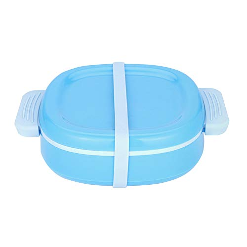TLfyajJ Kinder Isolation Fütterung Training Bowl 2 Slots Lebensmittel Geschirr Geschirr Set,plastikfrei, BPA frei, auslaufsicher  Geeignet Für Erwachsene Und Kinder  Blau (Planetbox-lunch-box)