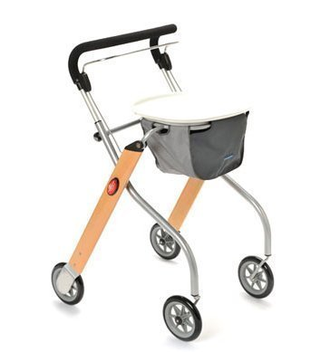 Trust Care Indoor Rollator Let\'s Go Holz silber by TRUST CARE