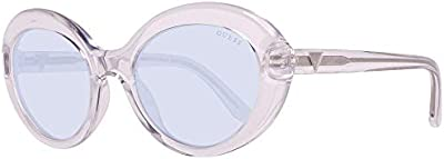 Guess GU7576 26V 55 Monturas de gafas, Transparente (CristalloBlu), 55.0 Unisex Adulto