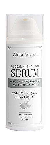 Alma Secret Serum Anti-Aging Global mit Q10, Hyaluronisch, Vitamin C & Alerce - 50 ml - Maske Bliss
