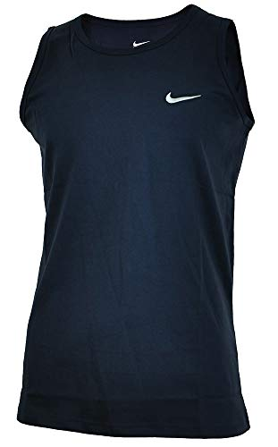 Nike Vest Herren Sport Regular Fit Fitness Tank Top Baumwolle Shirt Muskelshirt Navy, Grösse:L