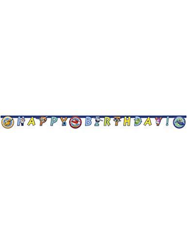 Procos PR80896 Super Wings Guirlande d'anniversaire Multicolore